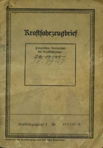 Tempo Front 7 Original Fahrzeugbrief 1935