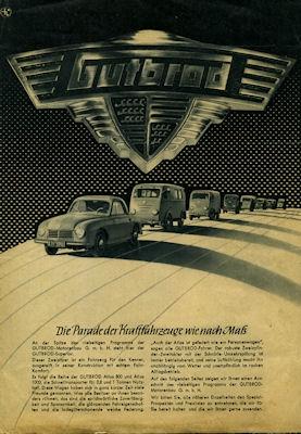 Gutbrod Programm ca. 1954