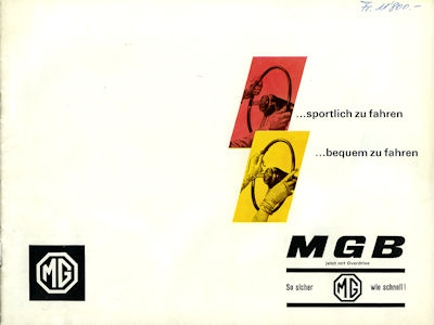 MG B Prospekt 1965