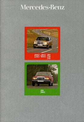 Mercedes-Benz 200-300 D Prospekt 1976