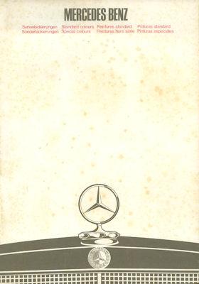 Mercedes-Benz Farben 6.1968 / 12.1968