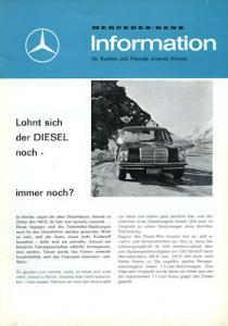 Mercedes-Benz Information Diesel 1971/72