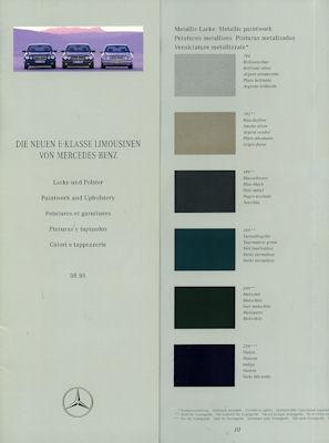 Mercedes-Benz E-Klasse Farben 1996