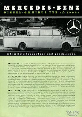 Mercedes-Benz O 3500 Prospekt 1950