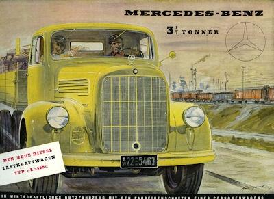 Mercedes-Benz L 3500 Prospekt 1950
