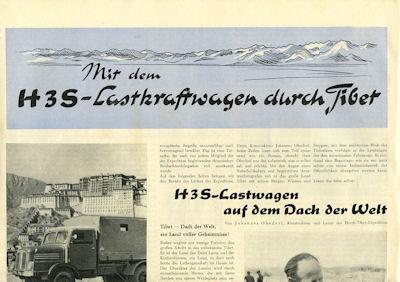 Horch H3A Lkw Prospekt 1957