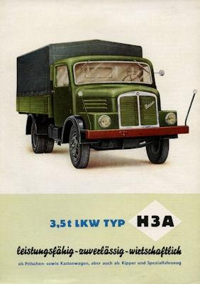 Horch H3A Lkw Prospekt 1954