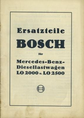 Mercedes-Benz Bosch Ersatzteilliste für LO 2000 u 2500 5.1936
