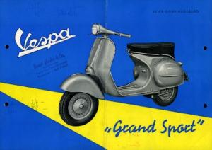 Vespa Grand Sport Prospekt ca. 1955