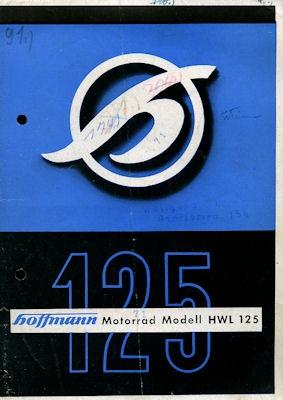 Hoffmann HWL 125 Prospekt ca. 1952