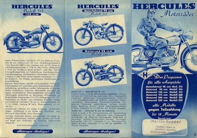 Hercules Programm ca. 1952