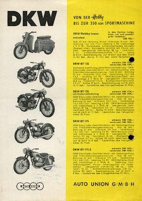 DKW Programm 1957/58