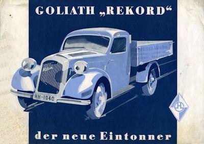 Goliath Rekord 1 to Prospekt 1937