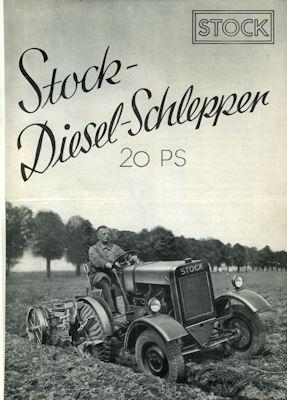 Stock Diesel Schlepper 20 PS Prospekt ca. 1930