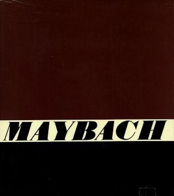M. Graf Wolff Metternich Die Geschichte der Maybach Automobile ca. 1967