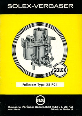 Solex Vergaser Type 28 PCI 1964