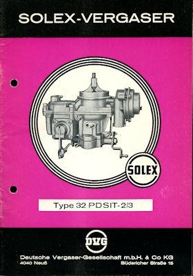 Solex Vergaser Type 32 PDSIT -2/3 4.1964 ef