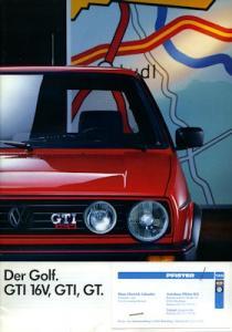 VW Golf 2 GTI Prospekt 8.1987