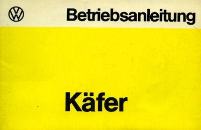VW Käfer 1200 Bedienungsanleitung 8.1975