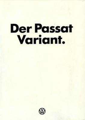 VW Passat Variant Prospekt ca. 1977