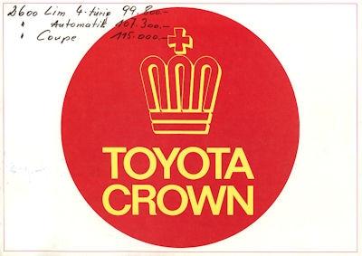 Toyota Crown Prospekt ca. 1974