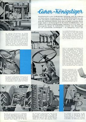 Eicher 35 PS Königs-Tiger Prospekt 1962 1