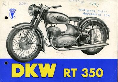DKW RT 350 Prospekt 10.1953