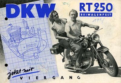 DKW RT 250 Prospekt 7.1953