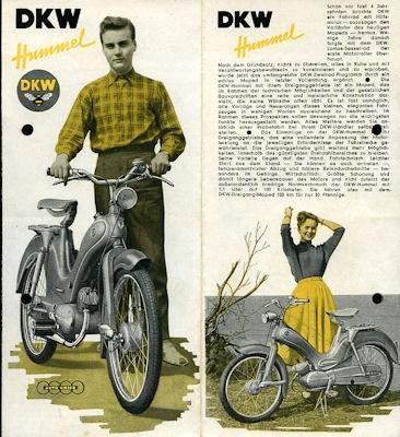 DKW Hummel Prospekt ca. 1956