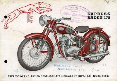 Express Radex 175 Prospekt 1950er Jahre