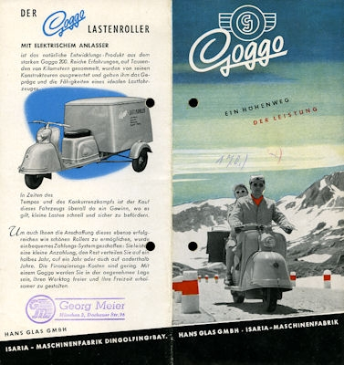 Goggo Roller Programm 1954
