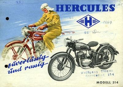 Hercules Modell 314 Prospekt 1951