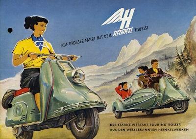 Heinkel Tourist 174 ccm Prospekt 1954 0