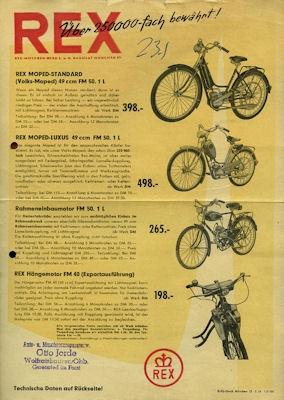 Rex Moped Programm 3.1954