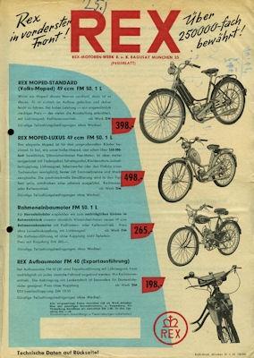 Rex Moped Programm 6.1954