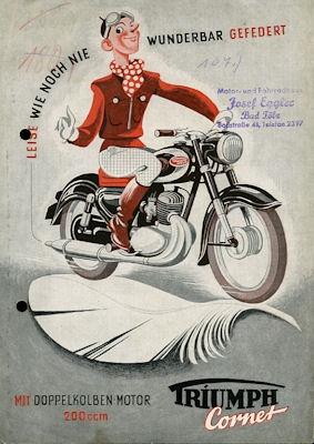 Triumph Cornet 200 Prospekt 1954
