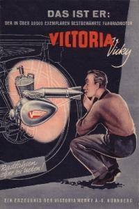 Victoria Fahrrad Einbau Motor Prospekt 1953