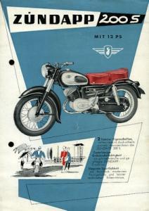 Zündapp 200 S Prospekt 1956