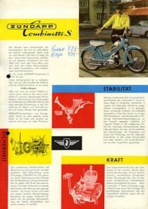 Zündapp Combinette S Prospekt 1958