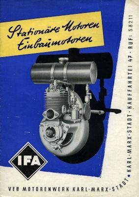 IFA Stationär Motoren Prospekt 1954
