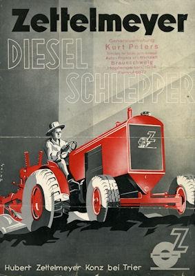Zettelmeyer Diesel Schlepper Prospekt 8.1938