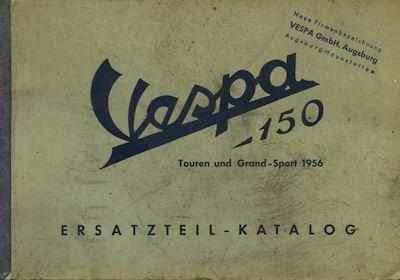 Vespa 150 ccm / GS Roller Ersatzteilliste ca. 1956