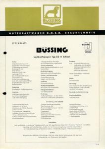 Büssing LU 11 Allrad Prospekt 9.1955