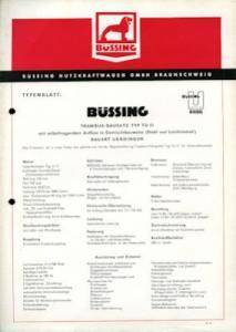 Büssing Trambus TU 11 Prospekt 1957
