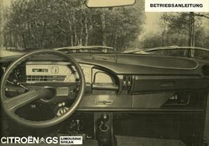 Citroen GS Bedienungsanleitung 1973