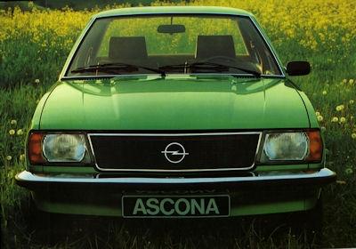 Opel Ascona B Prospekt 1978