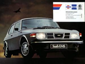 Saab 99 EMS Prospekt ca. 1977