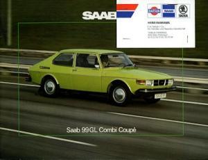 Saab 99 GL Combi Coupé Prospekt 1975