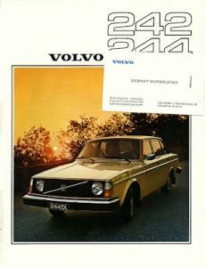 Volvo 242 244 Prospekt 1976