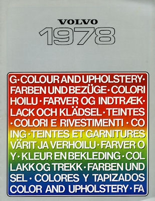 Volvo Farben 1978